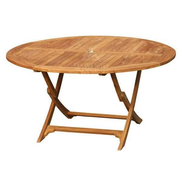 round easy teak garden folding table dia 150cm in 2019 outdoor rh pinterest com