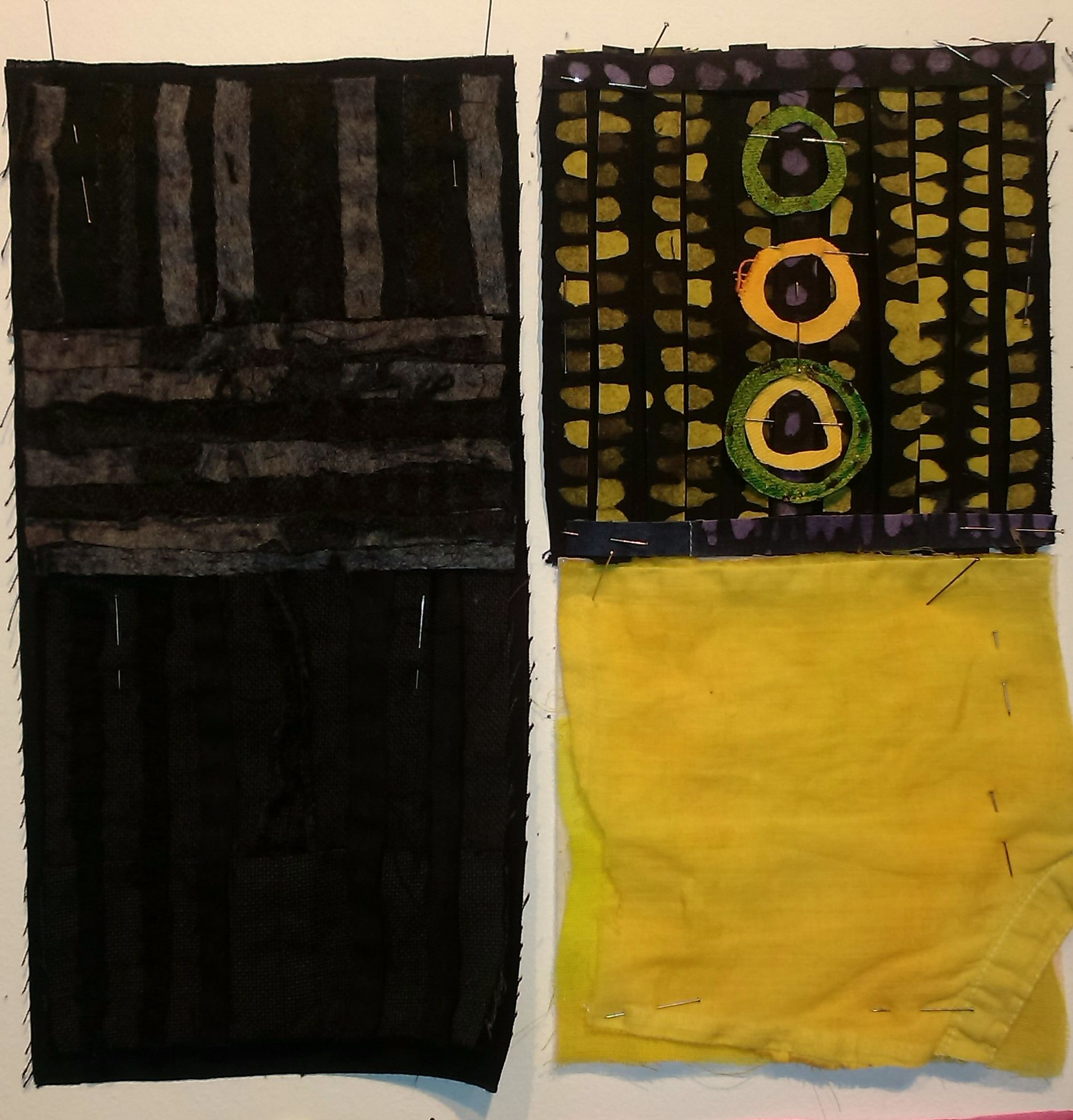 textile with batik and collage | circular obsession | Pinterest ...
