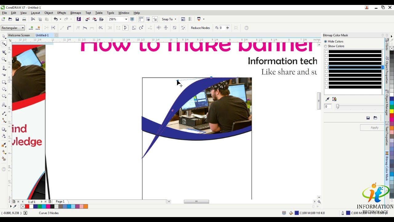 How To Make Banner Design Corel Draw X7 Banner Drawing Banner Design How To Make Banners