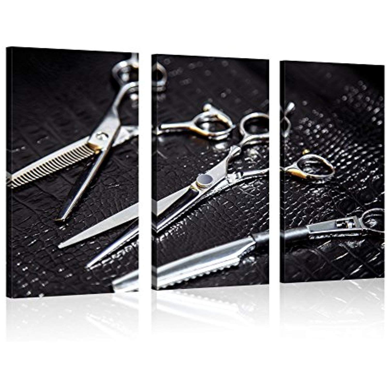 Visual art decor barber shop wall art fashion hair cut clippers
