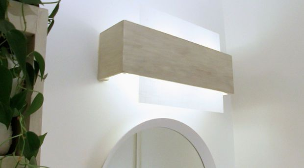Camouflaging A Dated Off Center Bathroom Lighting Fixture