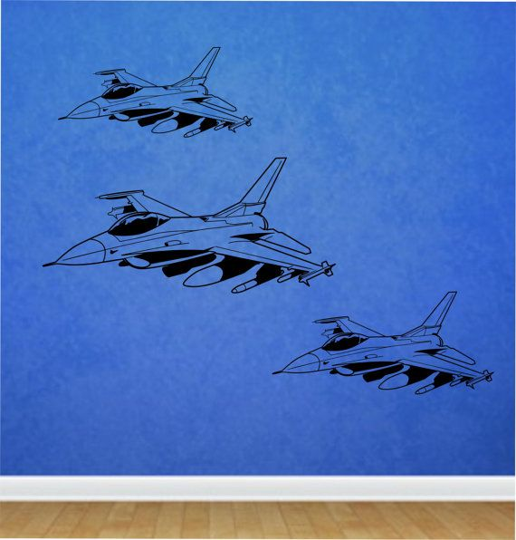 Fighter Jet Wall Decal Sticker Art Decor Bedroom Design Mural Etsy Sticker Art Wall Decals Wall Decal Sticker