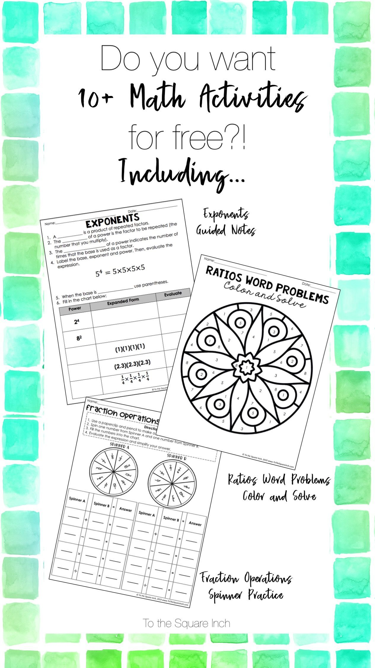 10 Free Low Prep Math Activities Just Print And Go