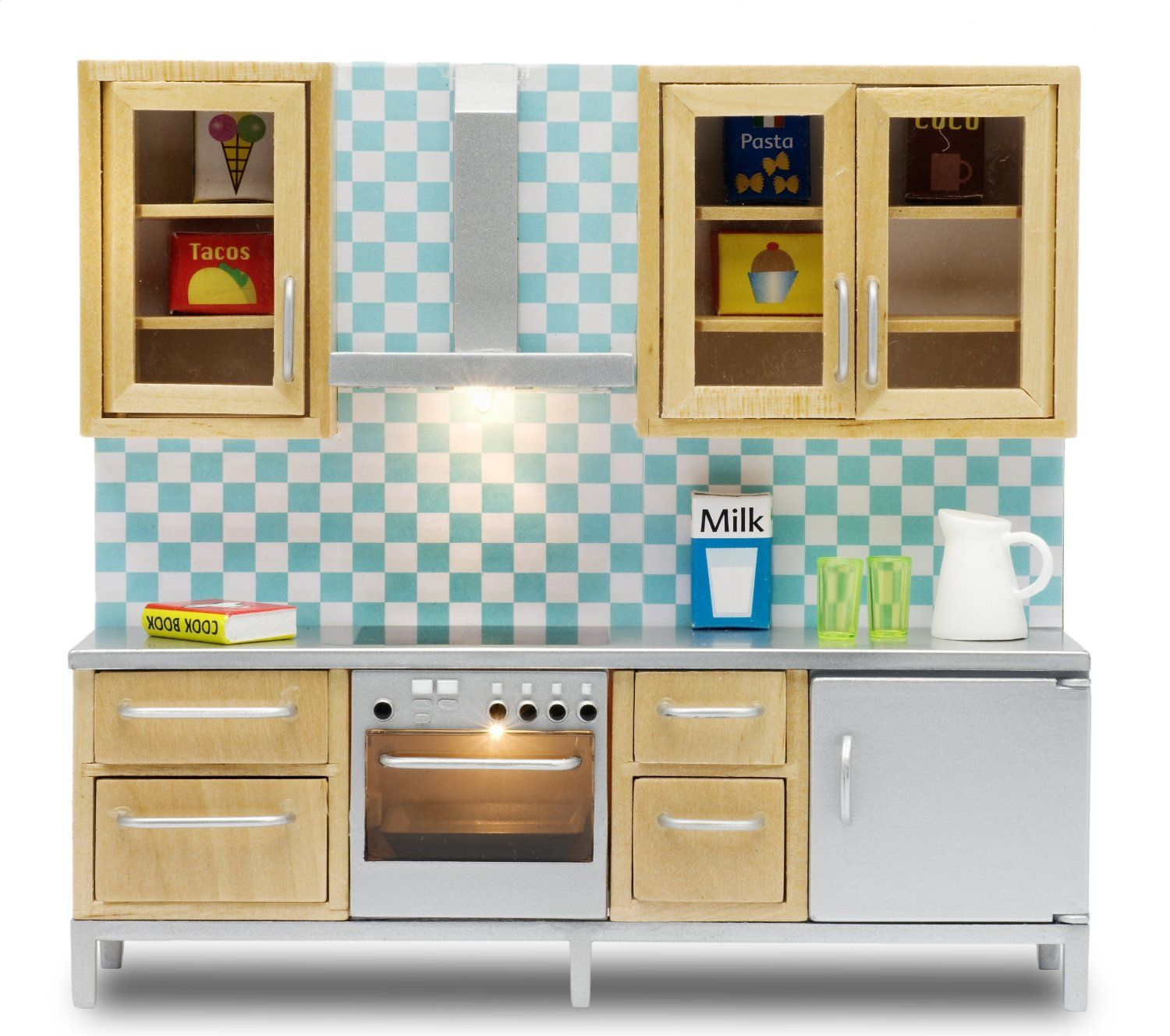 Lundby Stockholm Miniature Doll House Kitchen Set Watch Video Scroll Down