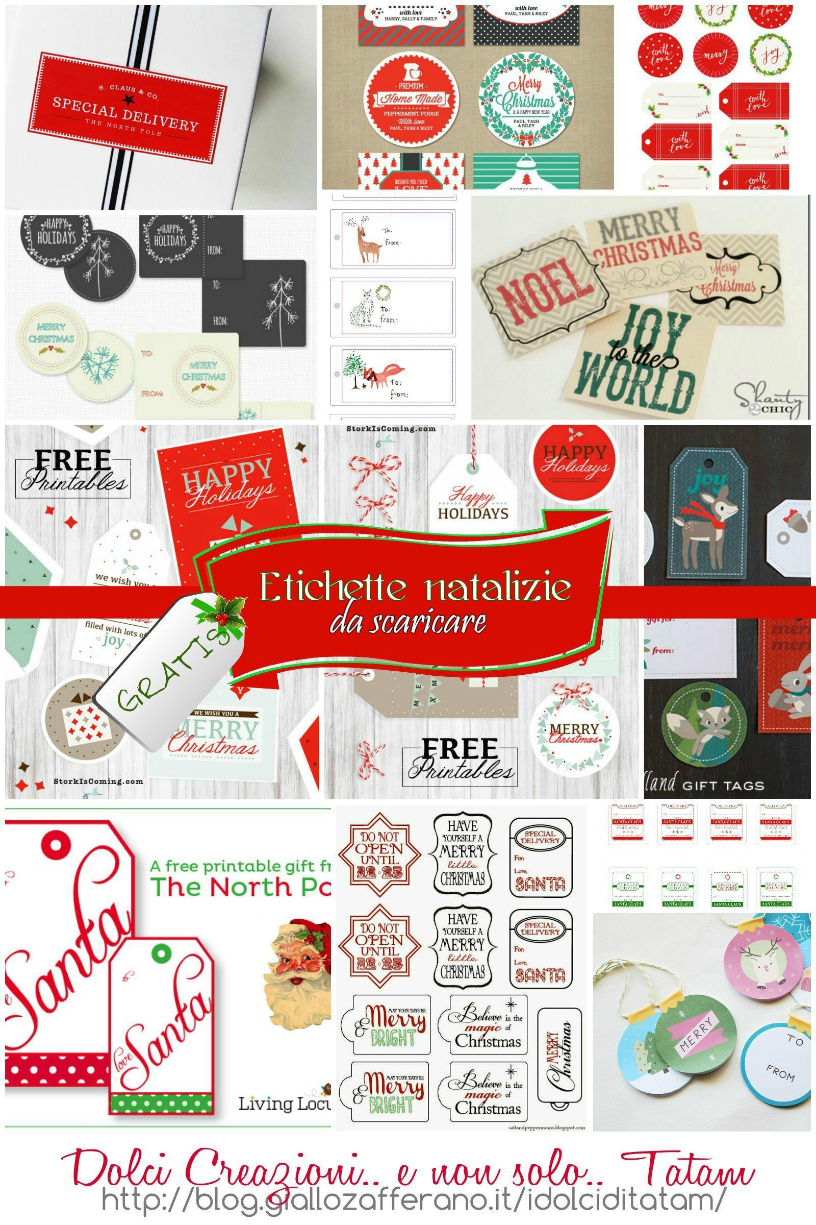Etichette Natalizie Da Stampare etichette natalizie da stampare gratis, per pacchi regalo