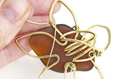 Brass flower ring 12