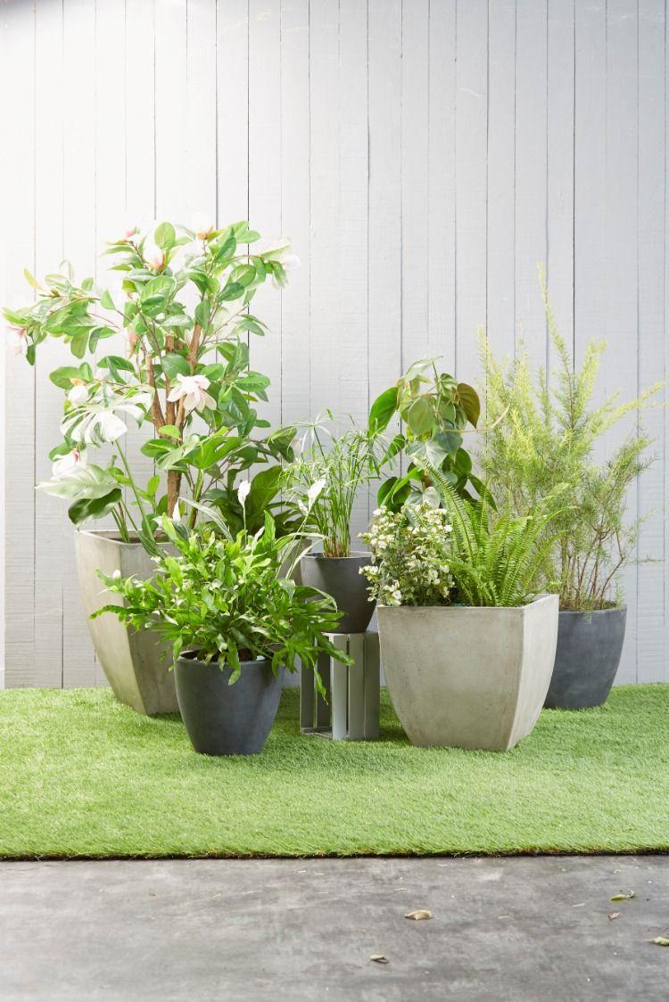 jardiniere plastique decoration jardin