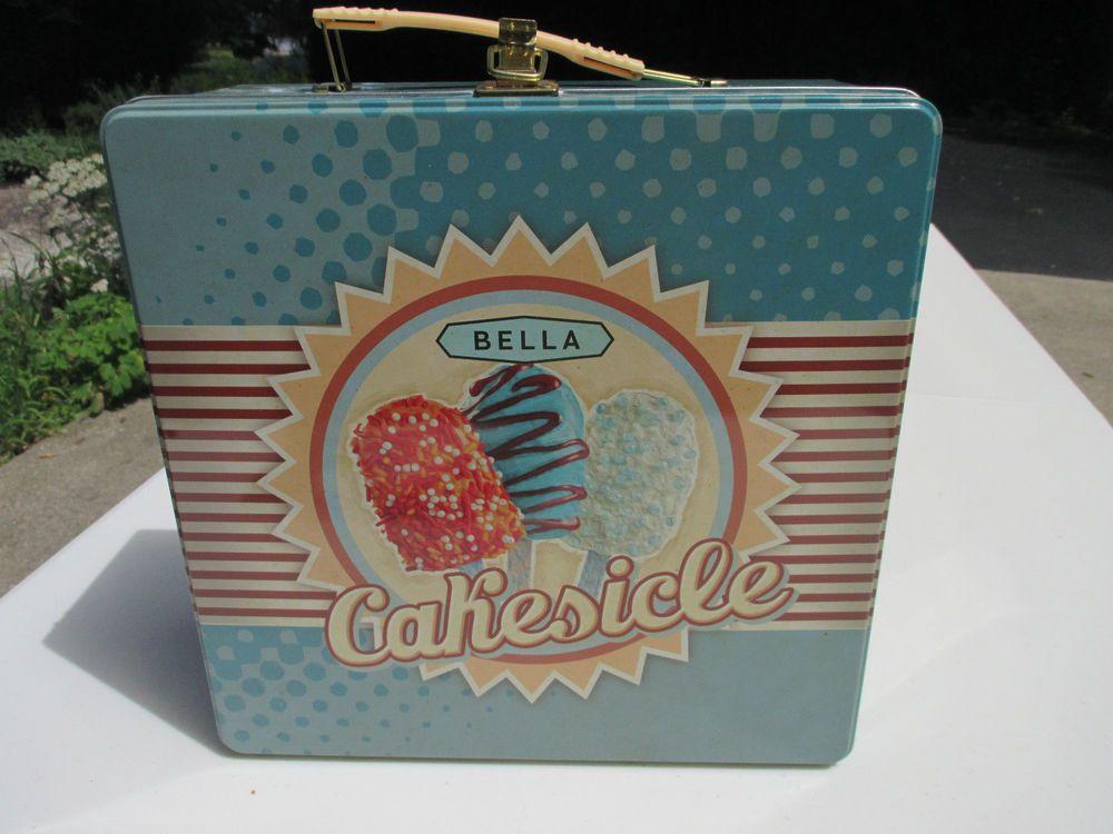 Bella cakesicle maker kit decorative tin box accessories