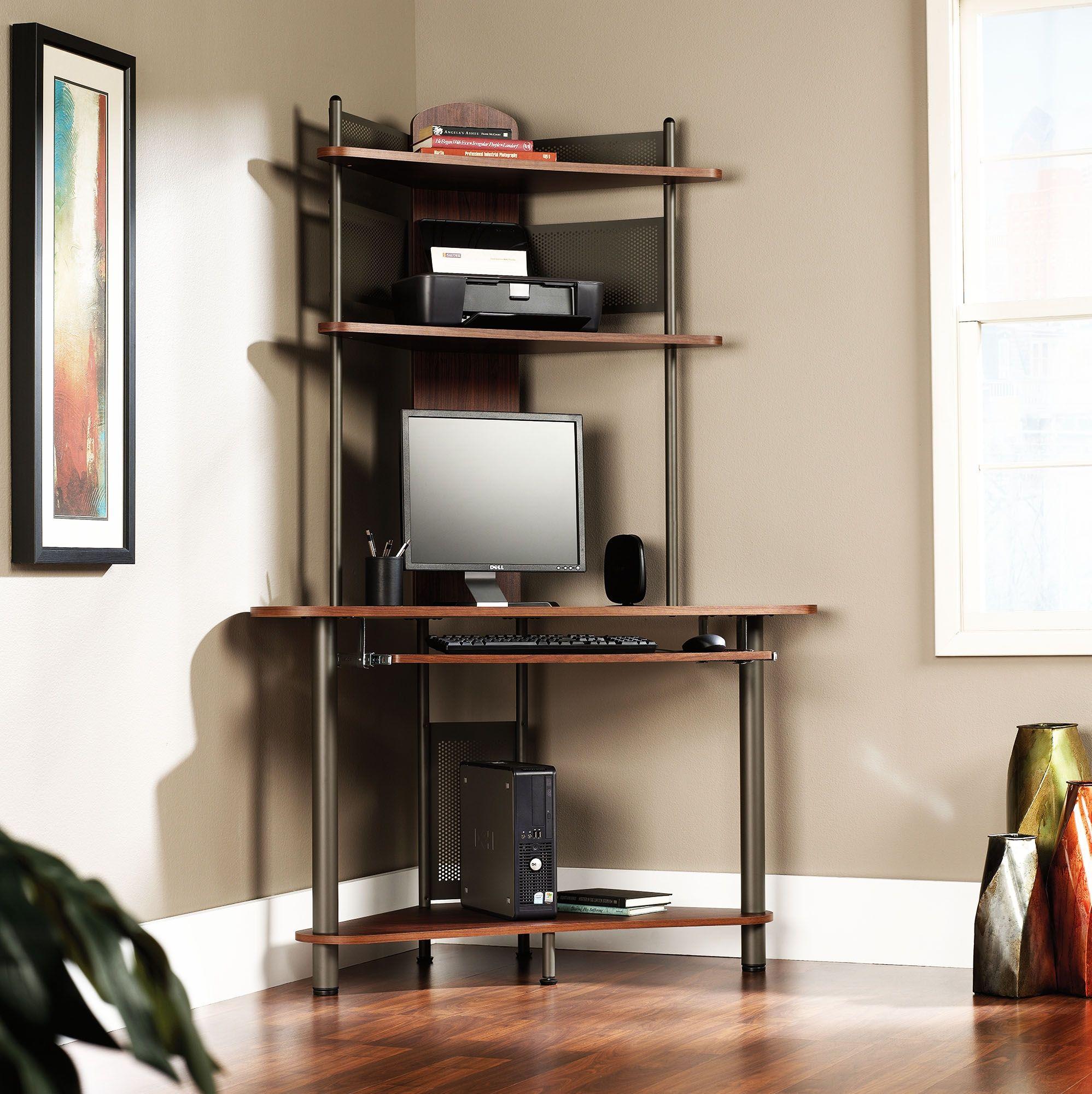 99 Corner Computer Desk With Printer Shelf Home Office Furniture Sets Check More At