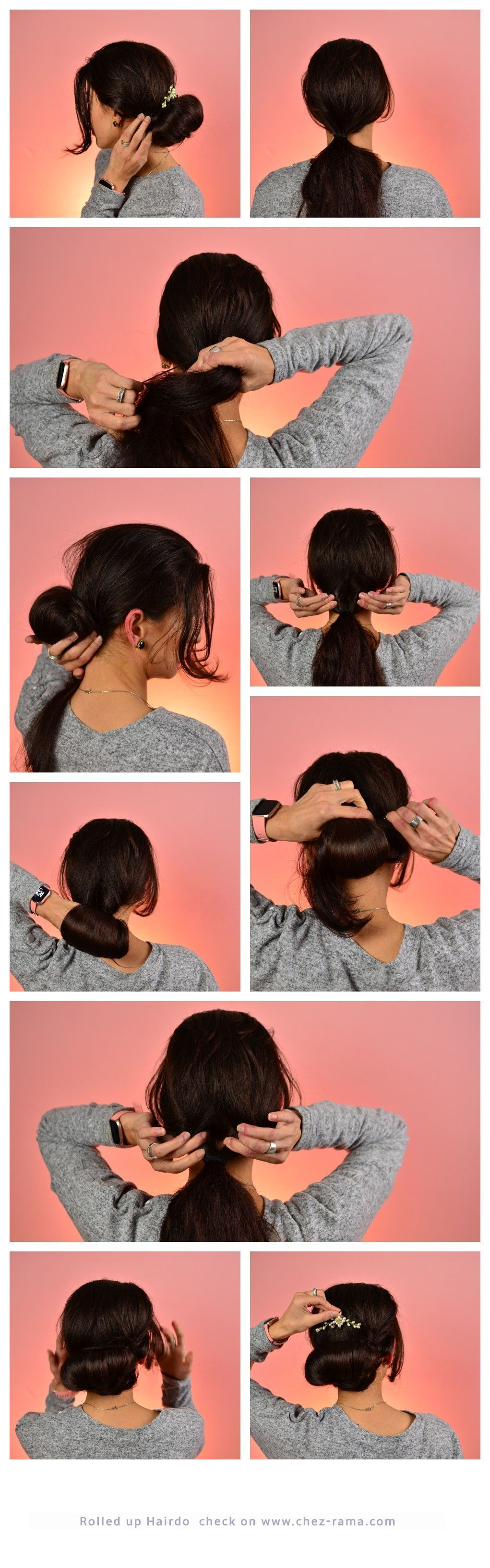 Lazy Hairstyle To Do At Home Rolled Up Hairdo Hairstyle Hair Look Updo Easy Hairtutrial Quick Hairstyle Thanksgiving Ho Lazy Hairstyles Up Hairdos Hair Styles
