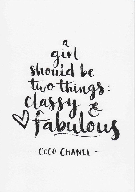 Coco Chanel Imprimer Une Fille Devrait être Deux Choses