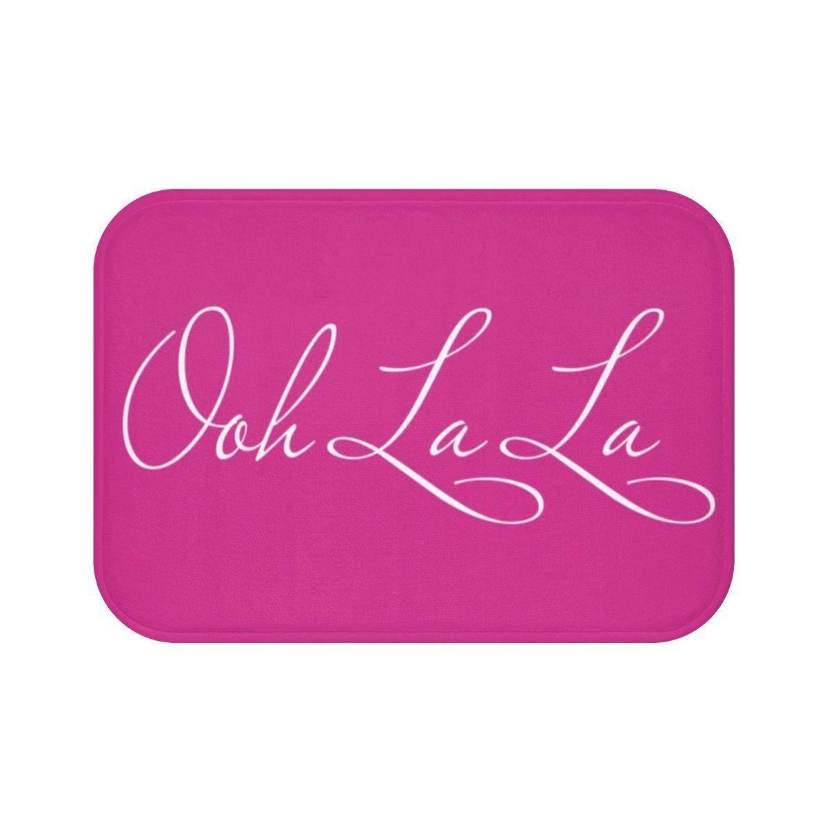 Ooh La La Pink Bath Mat Girl Pink Bath Decor Bath Mat With