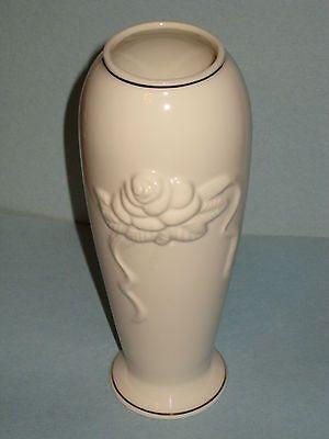 Lenox Rose And Ribbon Vase Classic Ivory Gold Trimmed Never Used Only Displayed Lenox Vase Vase Gold Trim