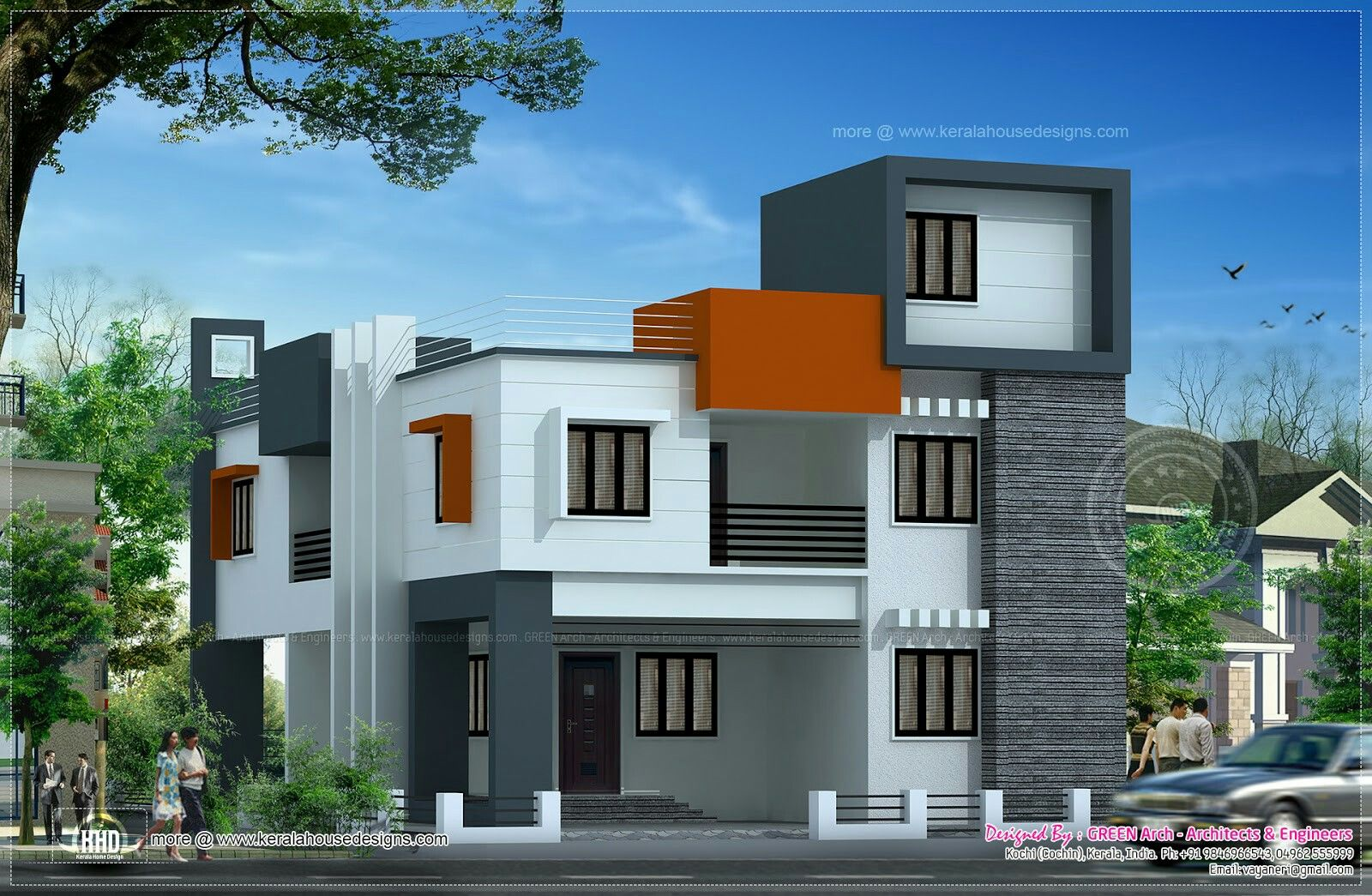 Box type house design house designs pinterest house for House exterior design pictures in indian