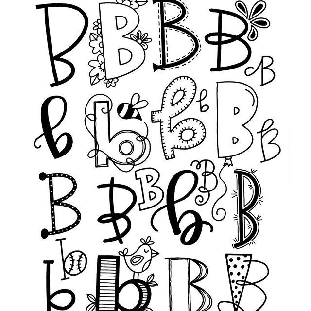 Letter B  Hand Lettering    Tombow Fonts And Typography