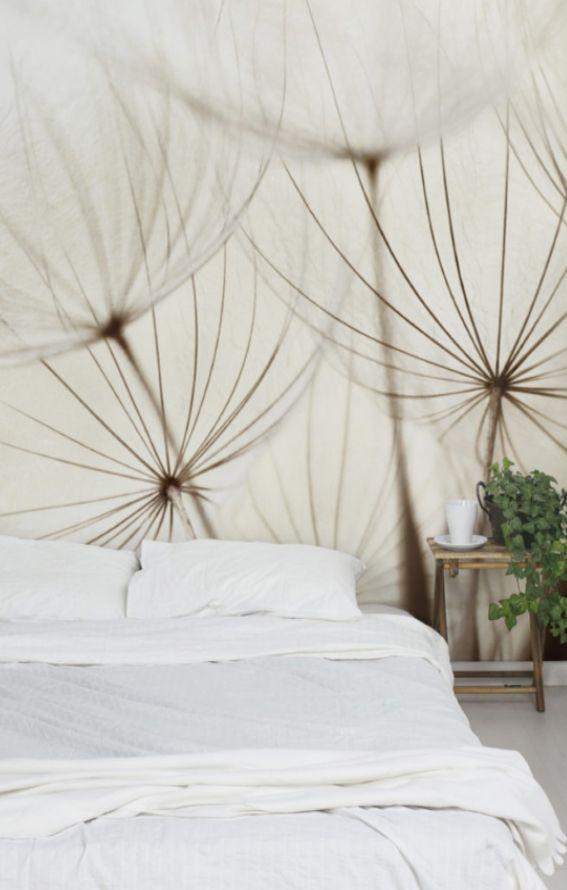 Bilderwelten Vliestapete Blumen Premium Breit »Sanfte Gräser« #Schlafzimmer  #Bett #Ideen #
