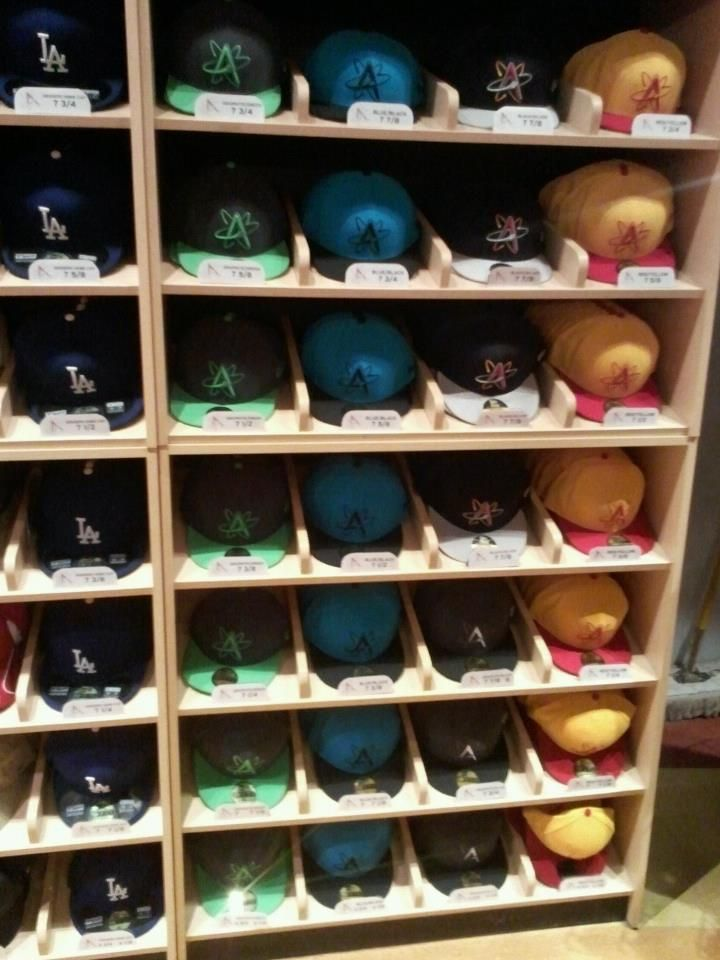 Hats And Tats A Lifestyle May 31 Albuquerque Isotopes Hat Display Sneakerhead Room Art Organization