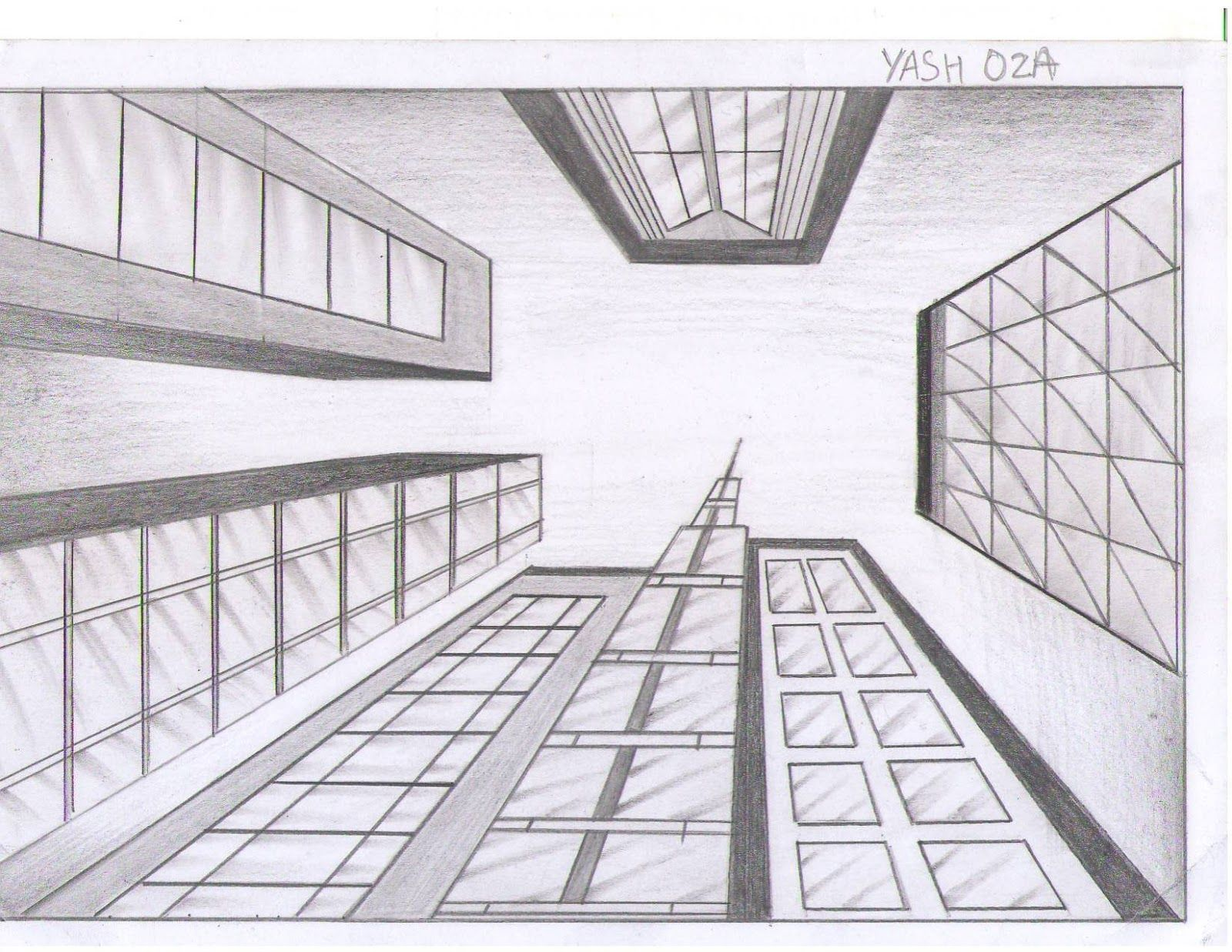 One point perspective interiors photographs one point for Exterior 1 point perspective
