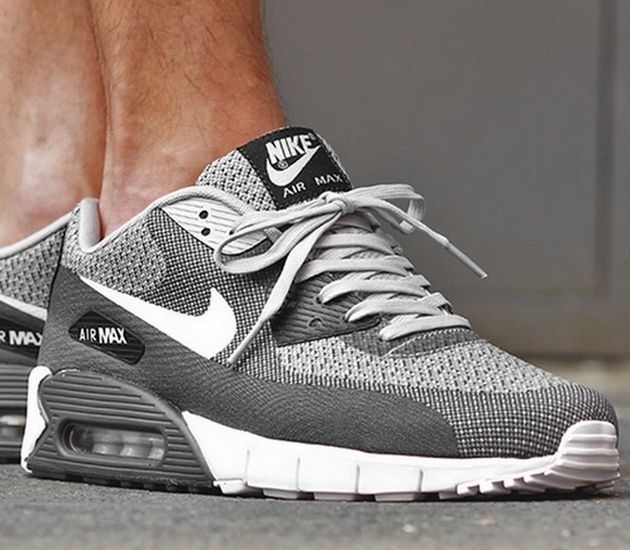 free shipping b848c 37828 Nike Air Max 90 Jacquard – Wolf Grey   White – Pure Platinum