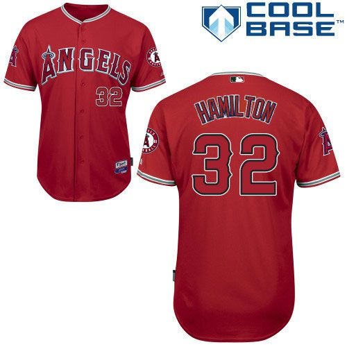 los angeles angels of anaheim authentic josh hamilton alternate cool base jersey mlb