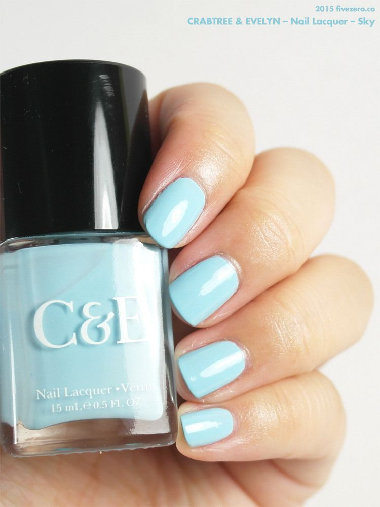 Crabtree & Evelyn — Sky (Nail Lacquer) Swatch & Review | Swatch, Sky ...