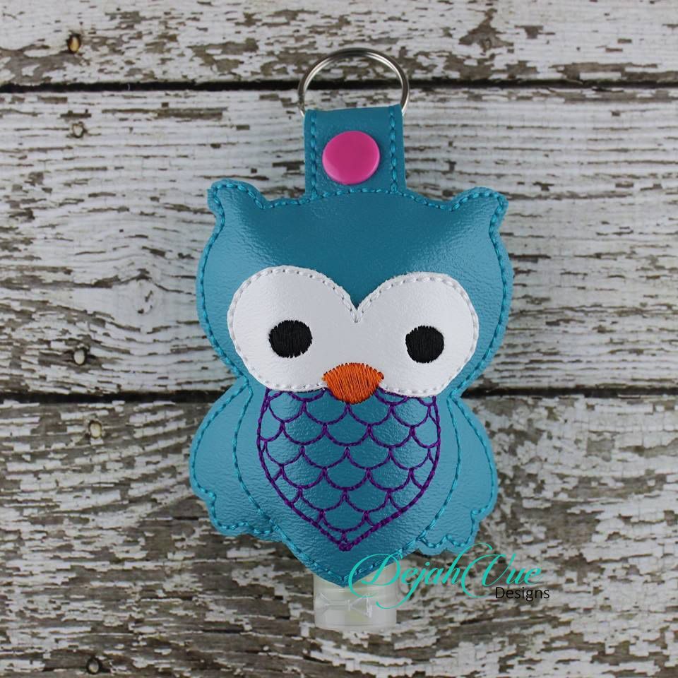 Owl Sanitizer Holder Hand Sanitizer Holder Embroidery Designs