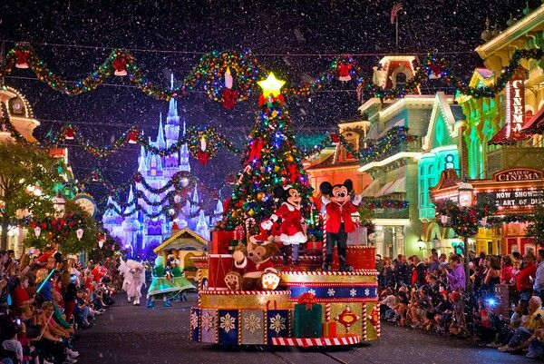 mickeys once upon a christmastime parade is run during mickeys very merry christmas party at walt disney world resorts magic kingdom on select nights du