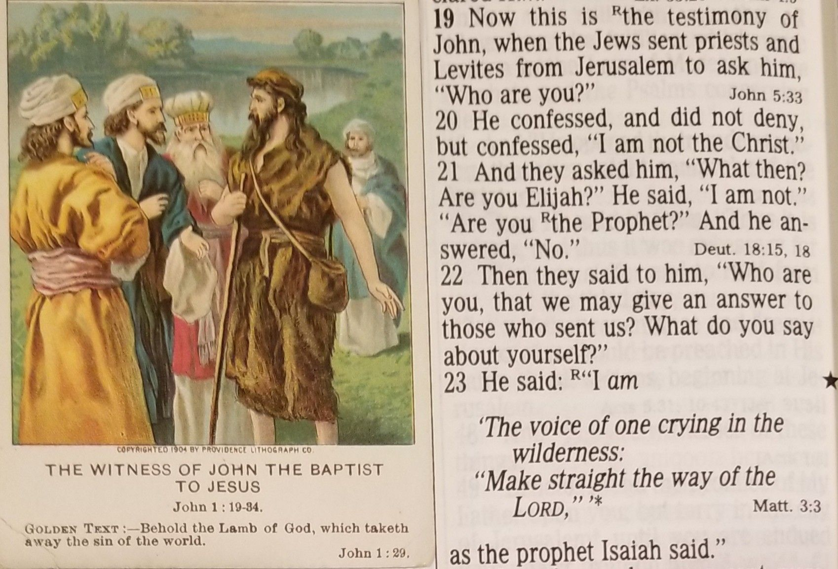Image result for John 1:19-23