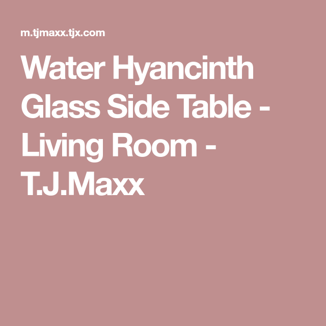 Water Hyancinth Glass Side Table - Living Room - T.J.Maxx | Salas ...