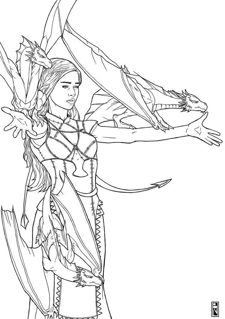 Daenerys Targaryen Outline Google Search Fairy Coloring Pages Cute Coloring Pages Game Of Thrones Drawings