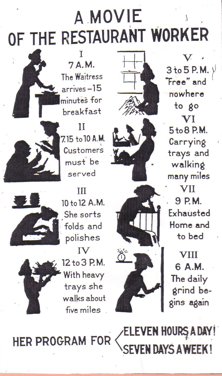 How To Write An Essay For High School Students It Details The Working Day Of A Waitress During The Progressive Era I Find  This Interesting Because It Shows How Our Perception Of  Short English Essays also Essays On Health This Is What We Would Today Call An Infographic It Details The  How To Write An Essay For High School