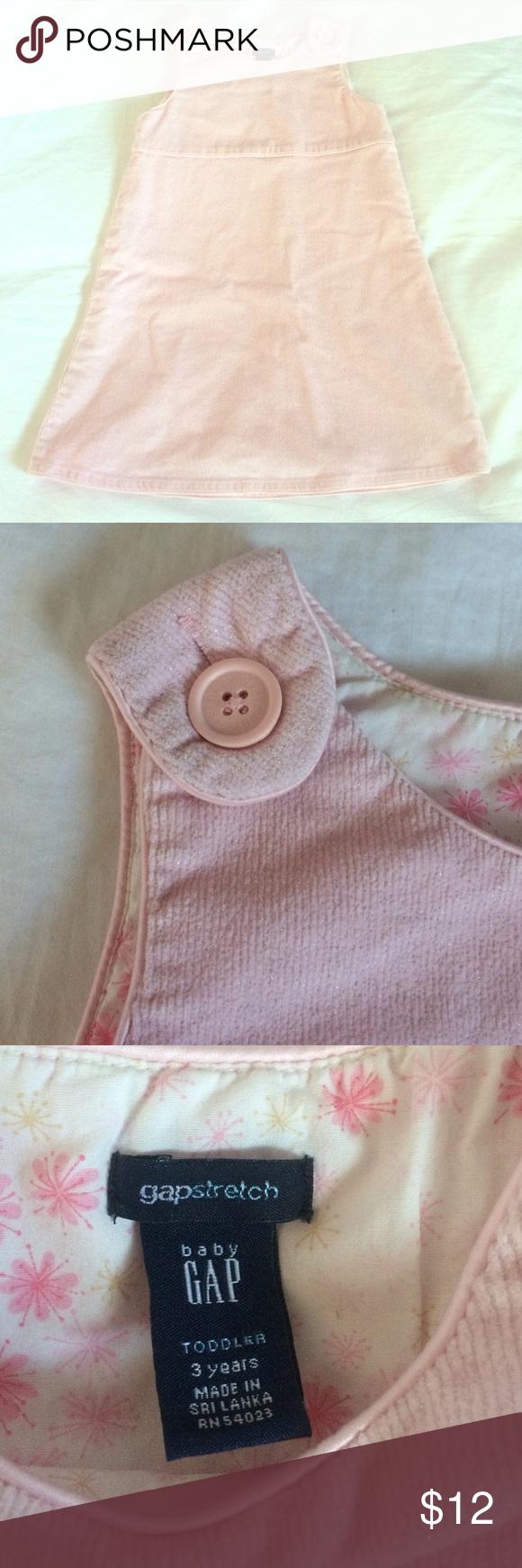 🎀NWOT Baby Gap Jumper Dress🎀 Super cute light pink, shimmery jumper dress from Baby Gap. NWOT! Size 3T. Smoke FREE home as always! 💕 GAP Dresses Casual
