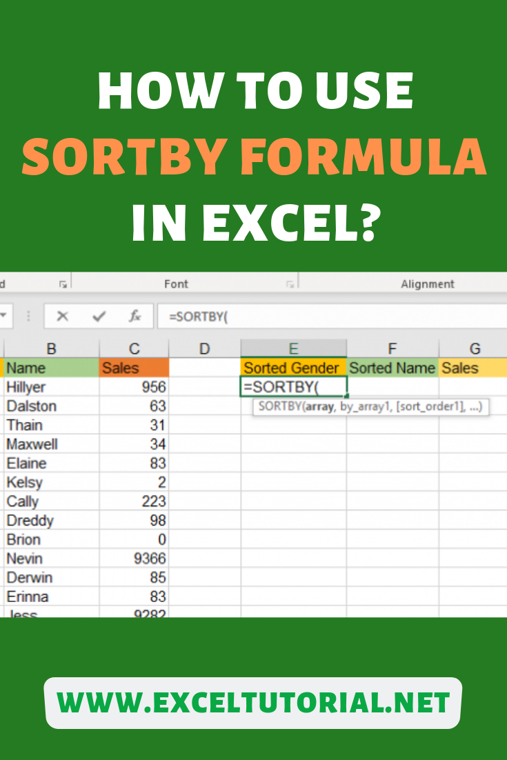 Excel Formula then you can do it now with Excel's SORTBY Formula. It will also help you to sort by multiple columns. It is a new formula introduced in Office 365 which was released in 2018.