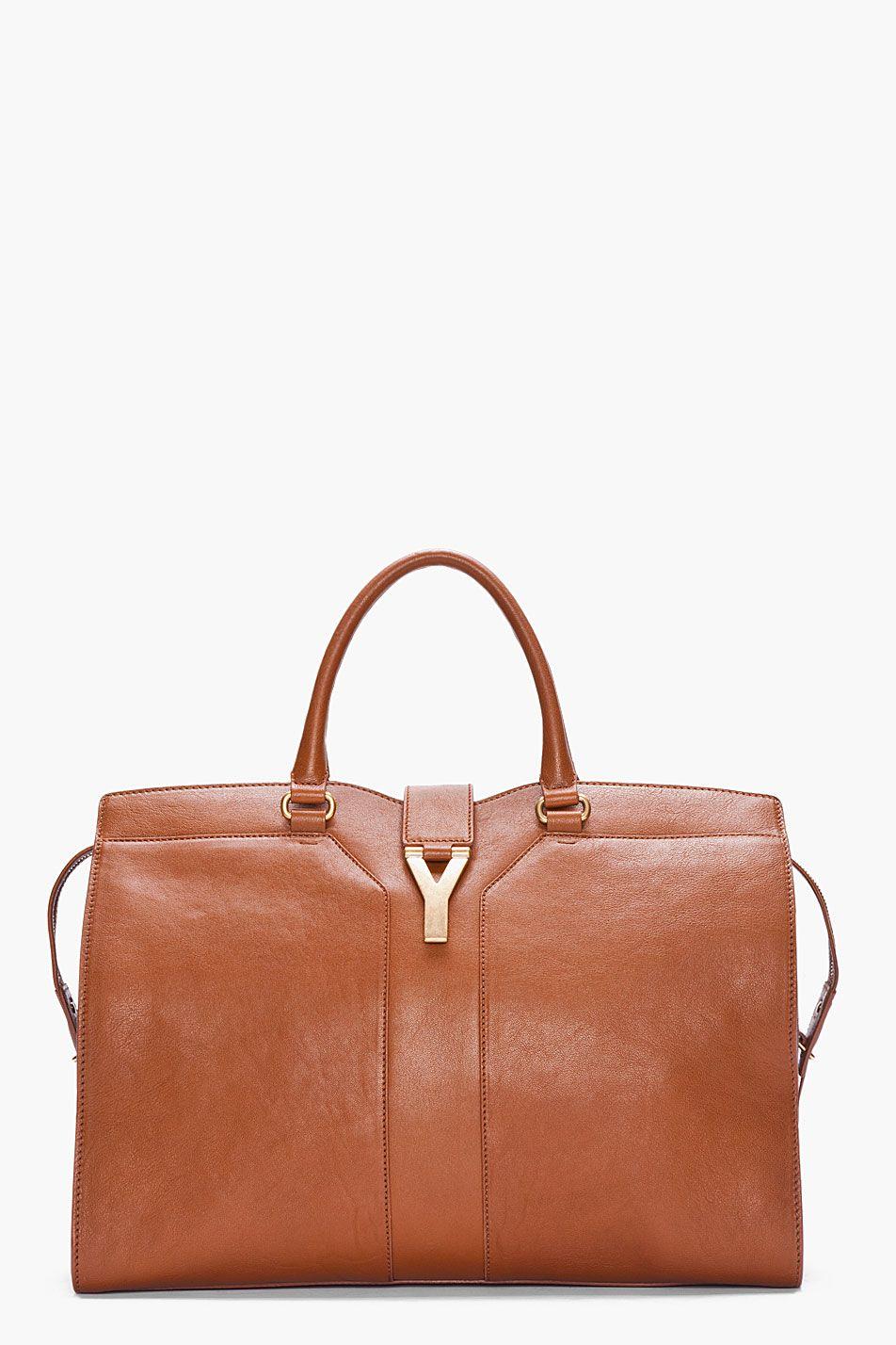 140ba49bc3 Yves Saint Laurent Tan Large Chyc Tote Bag