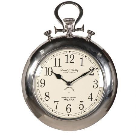 Heavy chrome pocket fob watch wall clock