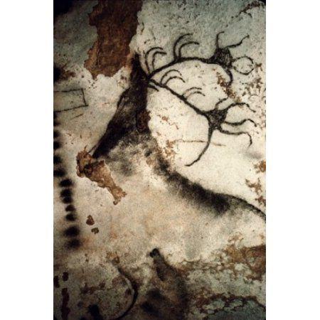 Great Stag Prehistoric Art Lascaux Caves France Canvas Art - (18 x 24)