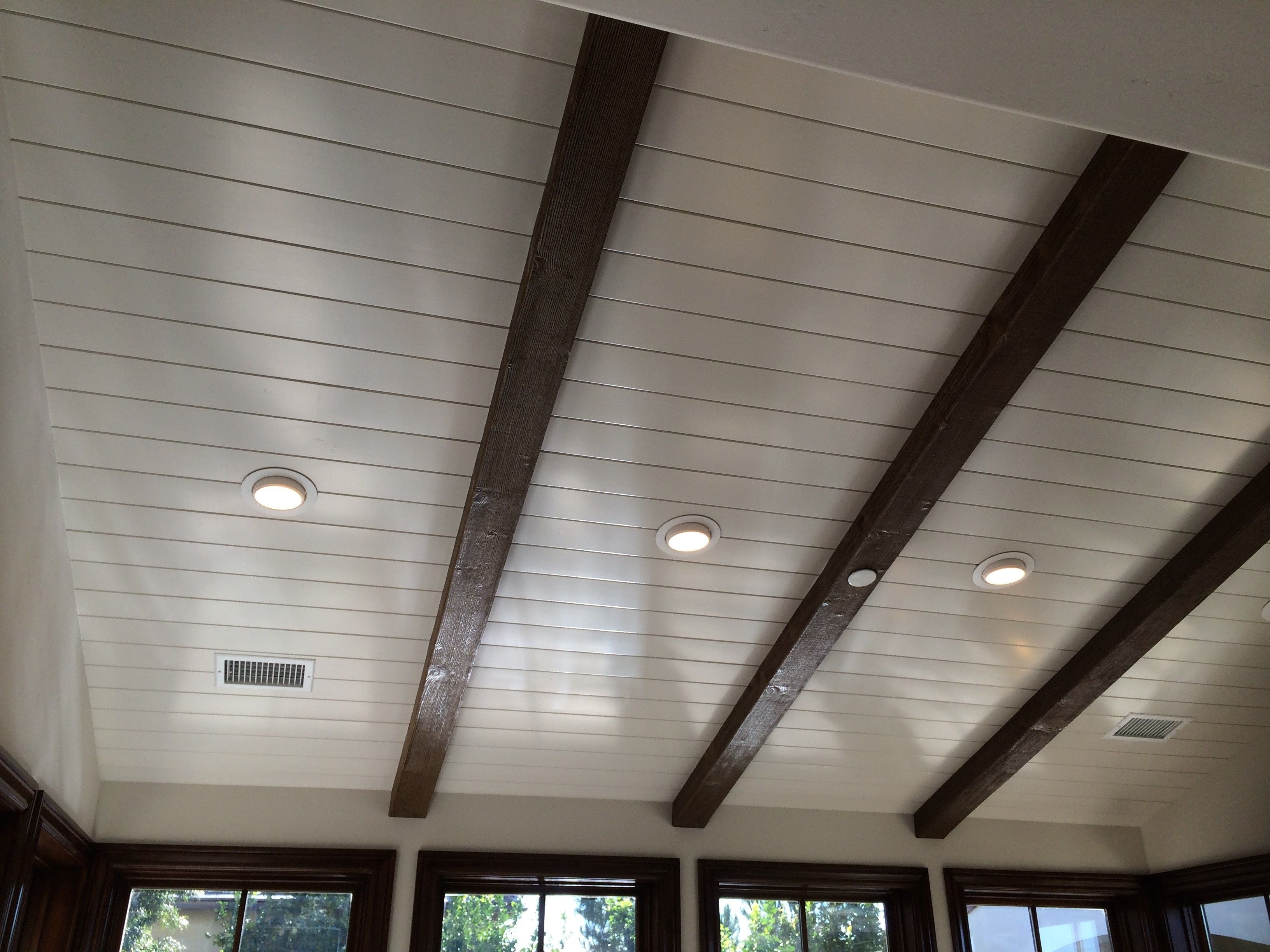Ceiling Beams Tongue And Groove Ceiling Sloped Ceiling