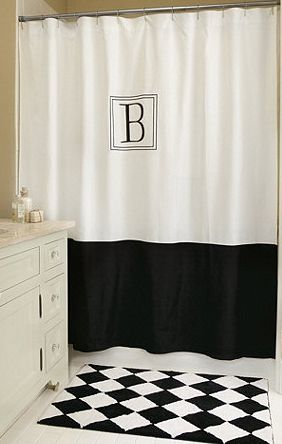 Bathroom Decorating Ideas Traditional Shower Curtains Black