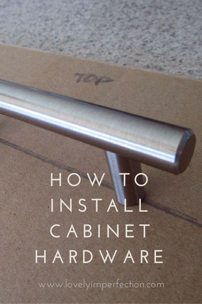 Installing Cabinet Hardware Drill The Holes Cabinet Hardware