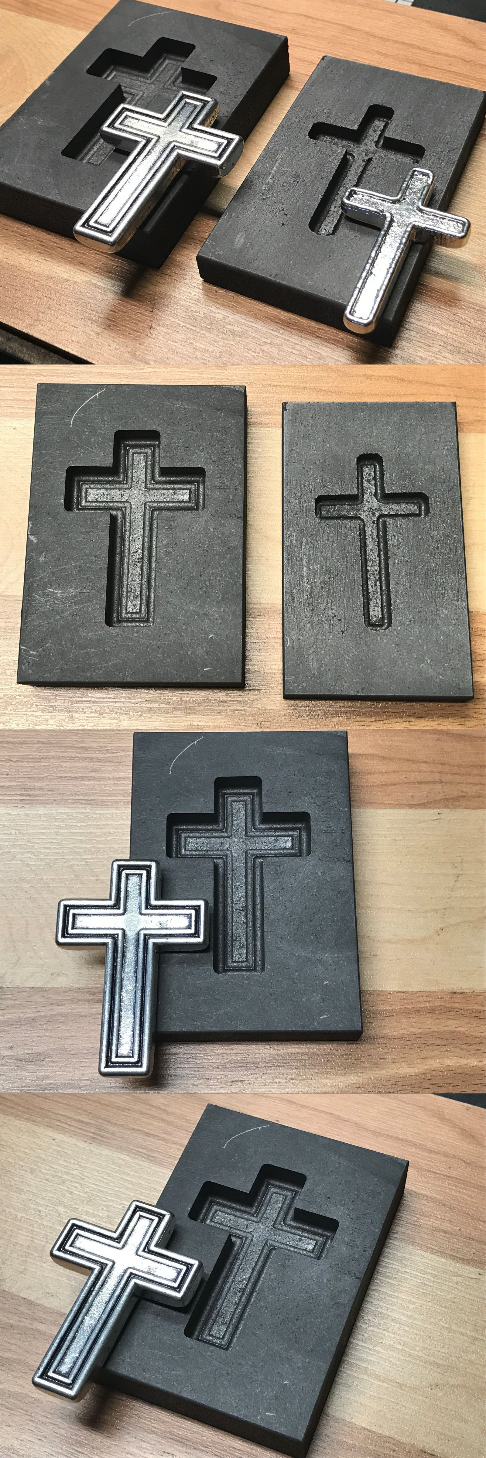 Jewelry Molds 67711: Cross 2 - Set Christian Graphite Mold