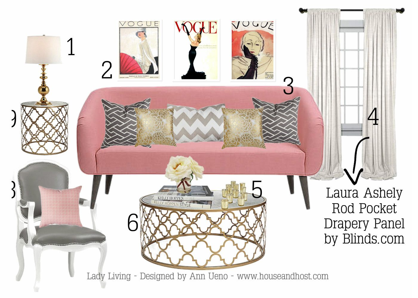In This Feminine Living Room A Pink Couch Somehow Comes Off Ultra