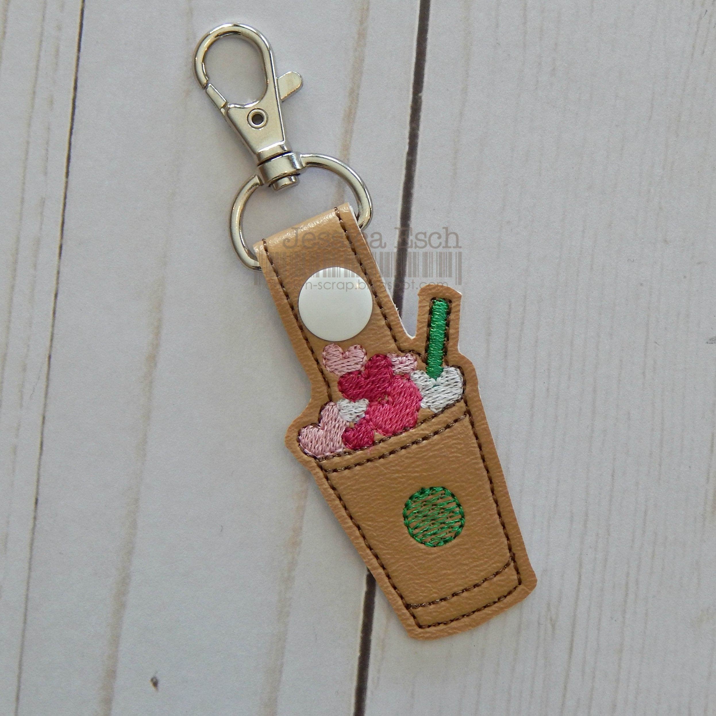 Starbucks Inspired Valentines Day Keychain Snaptab Coffee Lovers