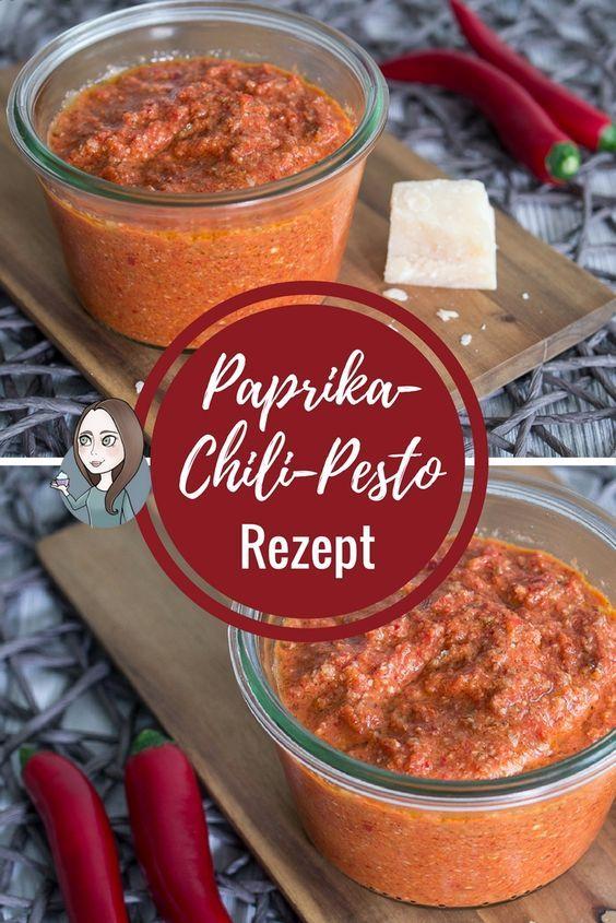 Paprika-Chili-Pesto - makeitsweet.de
