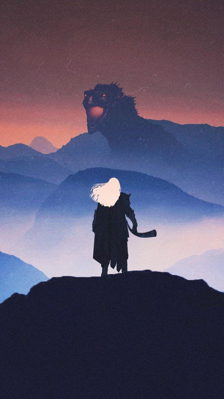 Aegon The Conqueror Dragon Artwork Game Of Thrones 720x1280