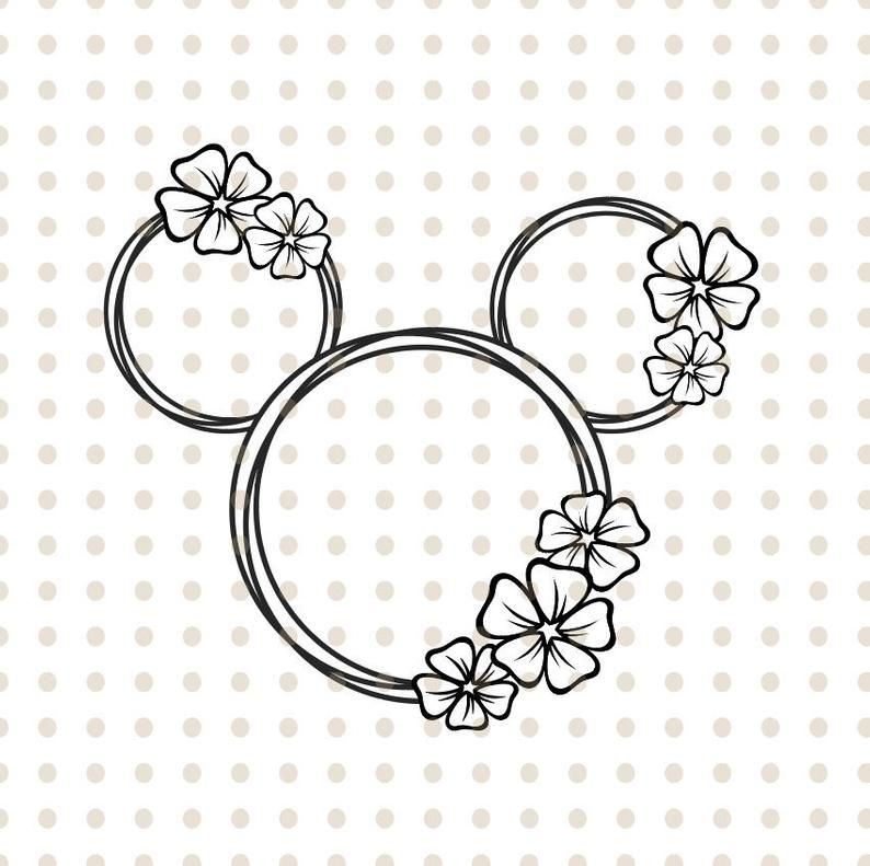 Pin By Denisa Poupe On Cutter Ideas Mickey Mouse Tattoos Disney Coloring Pages Flower Silhouette