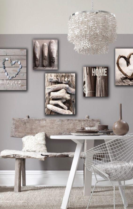 Leinwandbilder Home Sweet 5 Tlg Wohnzimmer Dekoration