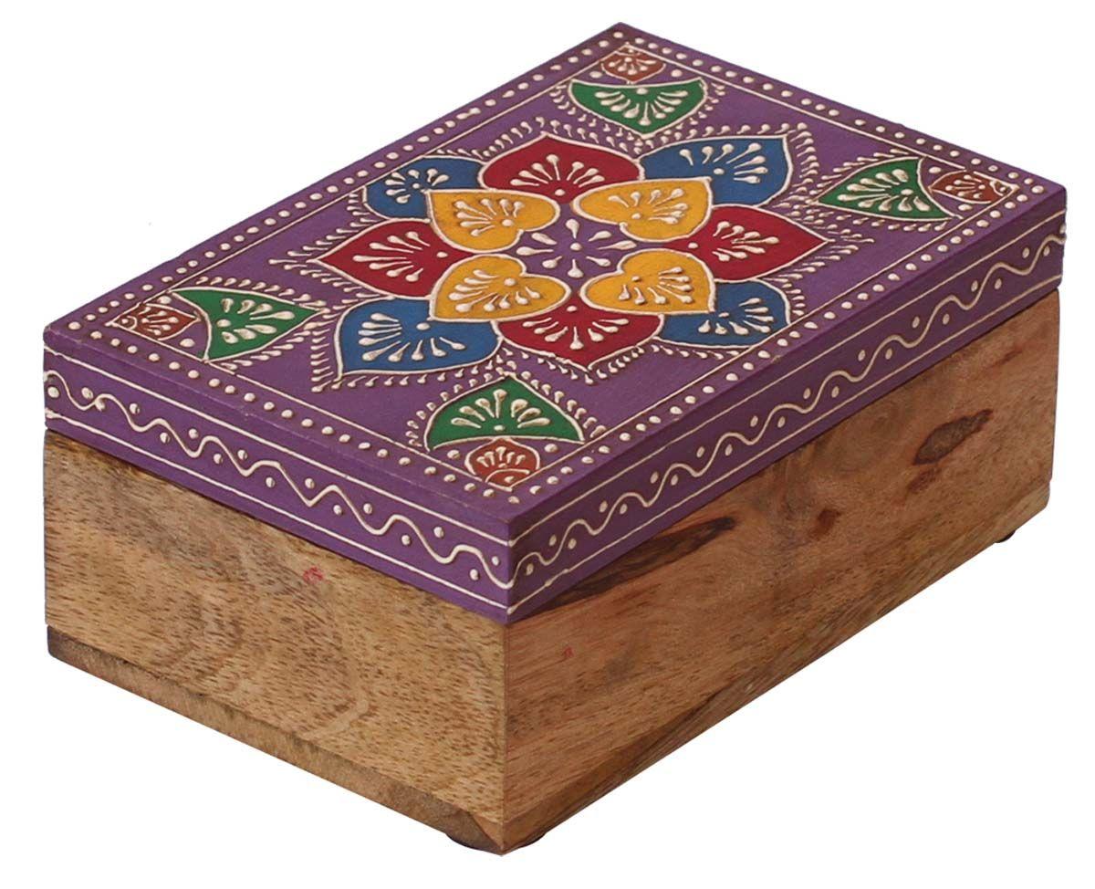 Bulk Wholesale Handmade 6 Wooden Rectangular Jewelry Box in Light
