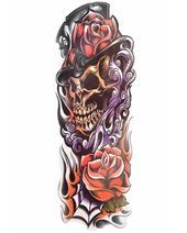 Photo of Mad Hatter Full Sleeve Temporary Tattoo  BratTats Mad Hatter Kurzarm-Tätowierun…
