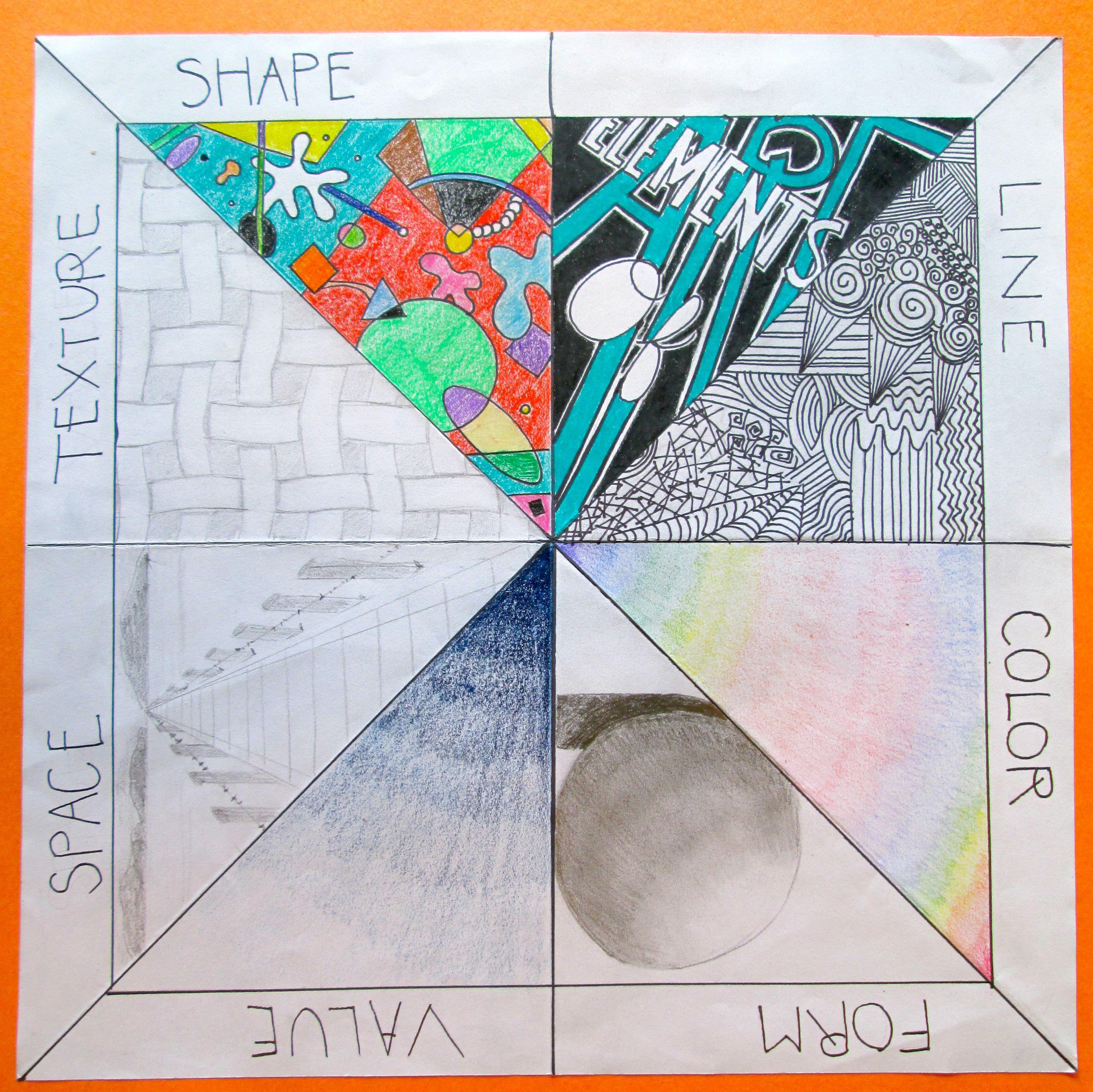 Elements of Art Review Project [ 3427 x 3428 Pixel ]
