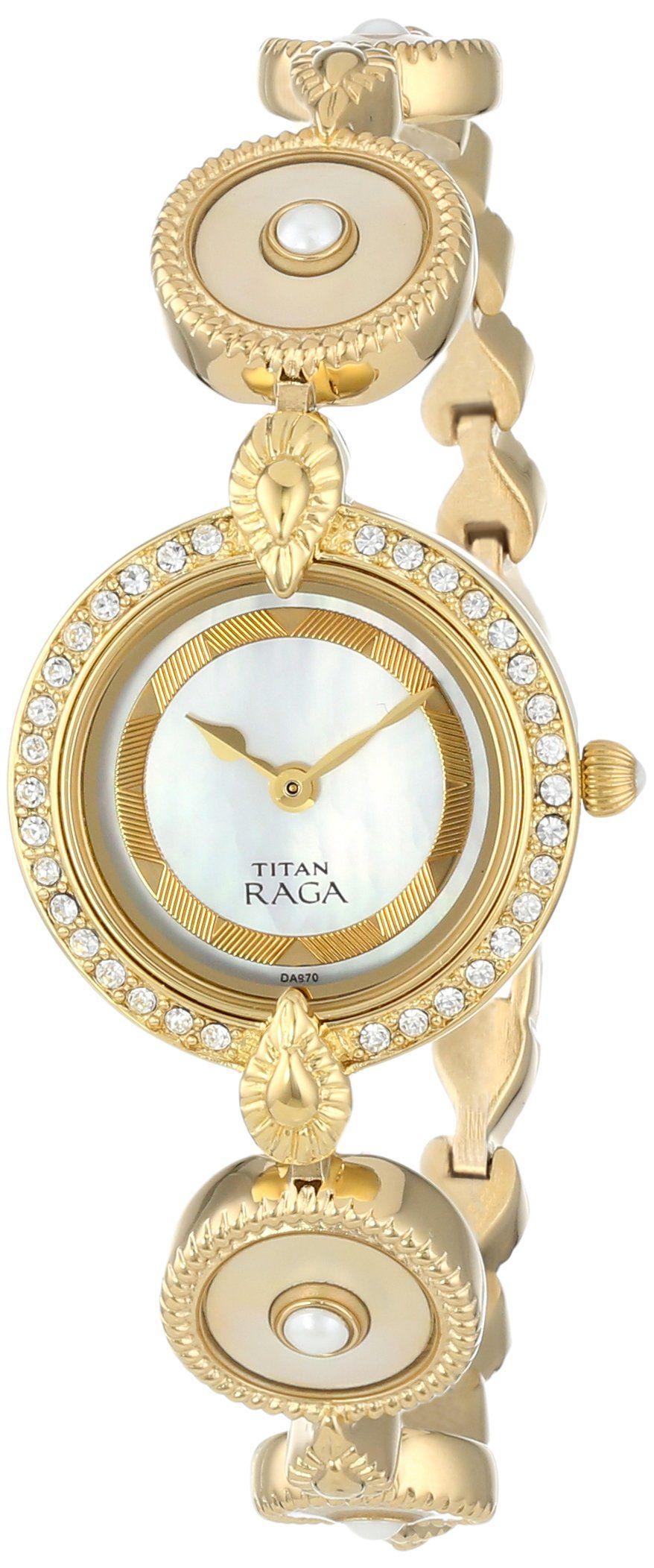 10ee1d11787 Titan Women s 9903YM02 Theme Raga Intricate Swarovski Elements Jewelry Inspired  Gold-Tone Watch